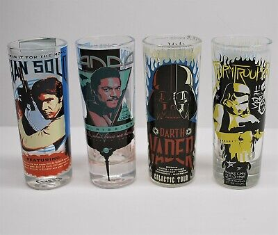 Zak Star Wars shot glasses - Set of 4 - Han Solo, Lando, Vader, Storm Trooper