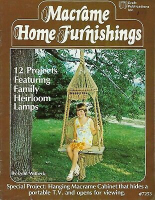 Macrame Home Furnishings Vintage Macrame Book #7253 Swinging Chair Pattern