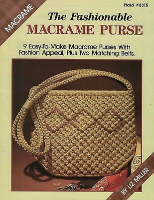 La Moda Macramé Purse Book #8315 With 9 Easy para Hacer Bolso Patrones
