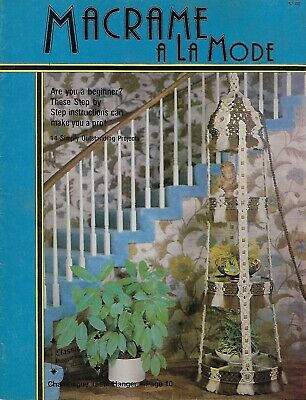 Macrame A La Mode Vintage Craft Book with Wine Rack & Hanging Table Patterns