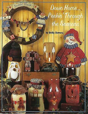 Down Home Peekin 'a Través de The Seasons Folk Art Tole Pintura Libro