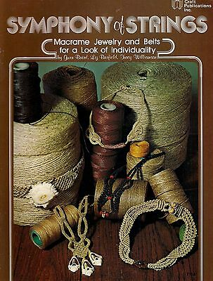 Craft Books: #7118 Symphony of Strings Macrame Jewelry Necklace Choker Patterns