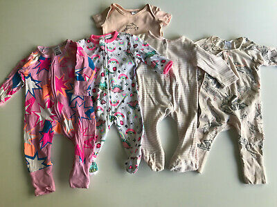 Bundle of 5 Baby Girls Suits Size 000 Inc Bonds Wondersuit & Cozysuit. Bulk Lot