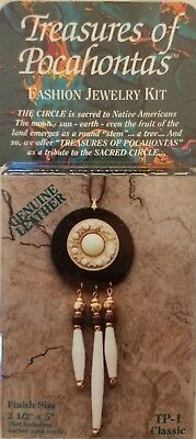 Treasures of Pocahontas Tribal Leather Necklace Beaded Jewelry Craft Kit TP-1