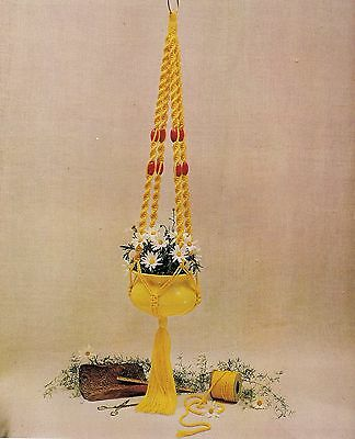 BOOK ONLY # 886 Macrame for Ages 8 and Up - Rare Beginner Plant Hanger Pattern
