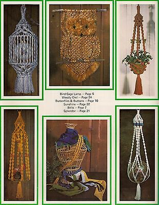 Bird Cage Lamp & Plant Hanger Patterns - Craft Book: What in the Macrame is it?