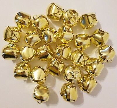 "Lot Of 25 Piezas Dorado Brillante Metal Campanillas 25mm 1"" Manualidades de"