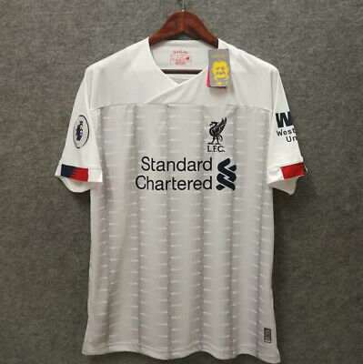 2019/2020 Liverpool White FC Away Football Jersey Shirt White Top Soccer Tee