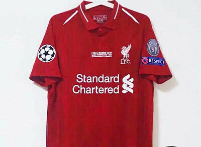 18-19 Liverpool UEFA Champion Memorial Jersey 5th Championship T-shirt S-XL