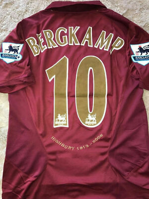 BERGKAMP 10# Arsenal Retro Football Jersey 05/06 Season Football Shirt Top Tee