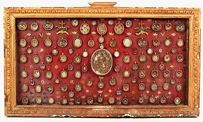 Once in a lifetime 177 relics in silver reliquary Letters of provenance COA 1898