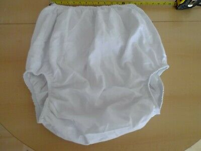 "Adult Baby White  Pvc + Cotton Trainer Pants Size Xl Extra Large 33""-41"" Waist"