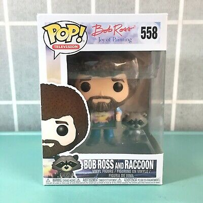 Funko Pop Television The Joy of Painting Bob Ross with Raccoon Figure 25701