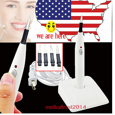 Dental Wireless Cordless Gutta Percha Points Tooth Teeth Gum heated Cutter 4 Tip
