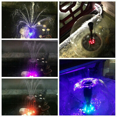Aquarium Pump Pool Fish Pond Color LED Submersible Fountain Garden Landscaping