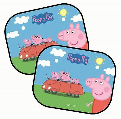 Childrens Peppa Pig Car Window Sun Shades with Car Design: Set of Two