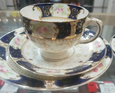 Two Antique Diamond China Porcelain Cup,  saucer and plates.