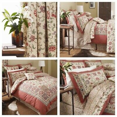 V & A Kalamkari Luxury Bedding  - Duvet Sets Throws Pillowcases Lined Curtains