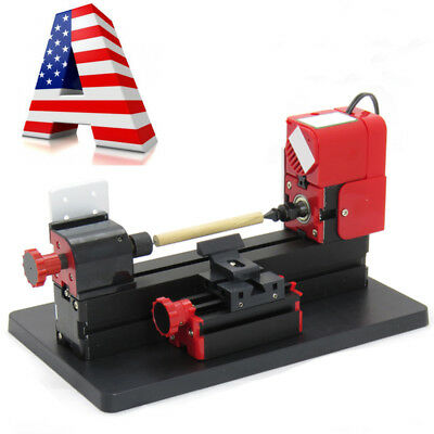 【US】 6in1 Lathe Wood DIY Machine Tool Kit Jigsaw Milling Lathe Drilling Kit