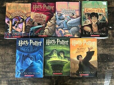 Harry Potter Complete Paperback Book Set 1-7 by J. K. Rowling