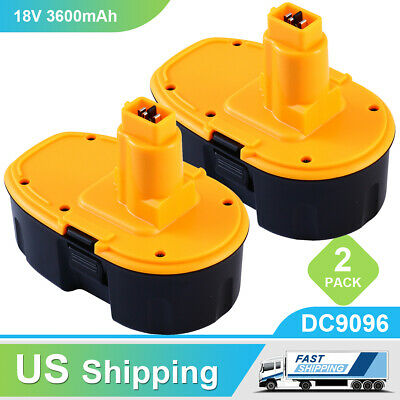 Replace for Dewalt 18V Battery DC9096 3600mAh NiMh DW9098 DC9099 DC90962 DW9095