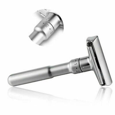Adjustable Double Edge Shaving Safety Razor Shaver Blades Zinc Alloy