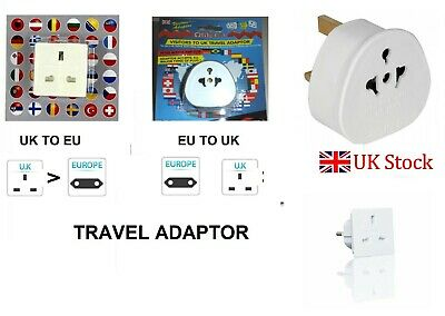 EU Euro Europe European to UK UK to EU England English Travel Adaptor Plug