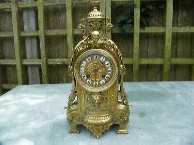 Large Japy Freres brass cased ornate striking clock GWO
