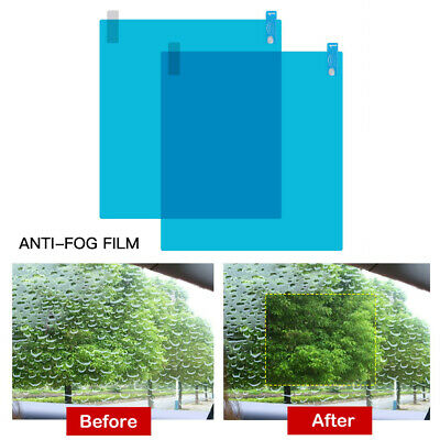 2Pcs Car Side Window Protective Film Waterproof Anti-Fog Anti-glare Rain Shield