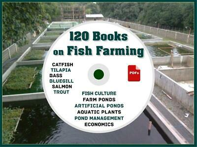 120 Books How to Raise Fish Farming Ponds Aquaculture Catfish Tilapia Trout Bass