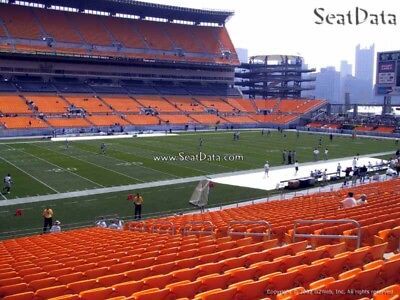 (2) Steelers vs Bengals Tickets Lower Level Steelers Sidelines Close to Aisle!!