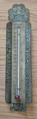 Antique Reliable Thermometer Hanging Tin Litho Brooklyn NY