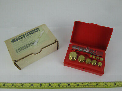 New Fisher Troemner Weight Set 02-301-5B 100G-10MG Weights In Case