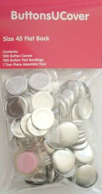 100 Size 45 Self Cover Buttons - free US shipping