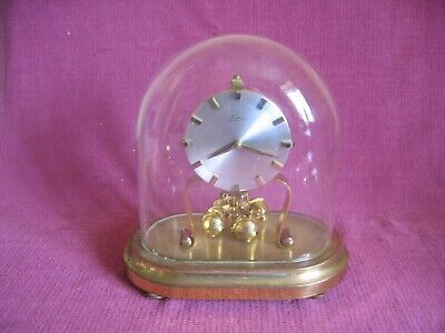 Vintage Kein Oval Glass Dome Brass Anniversary Mantle Clock - Spares Repair
