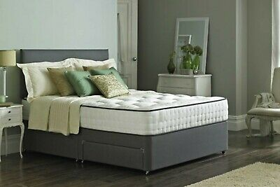 MEMORY FOAM DIVAN BED SET WITH MATTRESS & HEADBOARD 3FT 4FT 4FT6 5FT King & 6FT