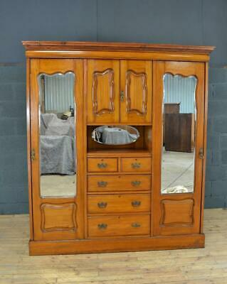 Antique Edwardian Triple Wardrobe Compactum