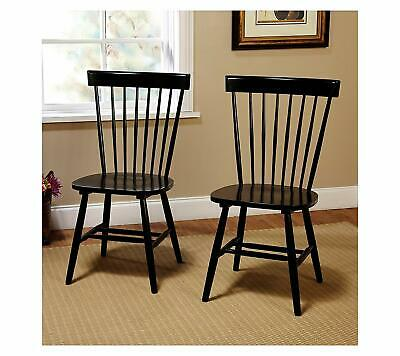 New Target Marketing Systems Venice Set of 2 Dining Chairs, black