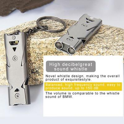 Latest Outdoor stainless steel double tube high decibel blast whistle for help
