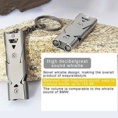 Stainless Steel Emergency Survival Whistle Mini Outdoor Camping Hiking Whistle