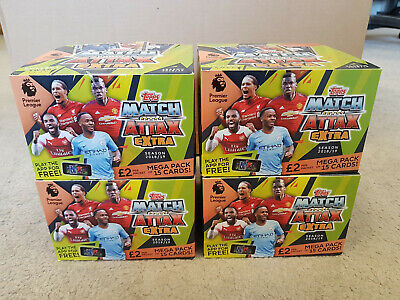 4x Match Attax Extra EPL 2018/19 Football Trading Cards 24x £2 Packets FULL BOX