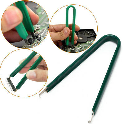 U Type flat IC chip protect plier ROM circuit board extractor removal pullerQ9F