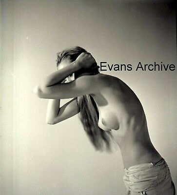 1960s Tall Nude Blonde Model in Towel Negative Photo Lot by Avedon Asst (9negs)
