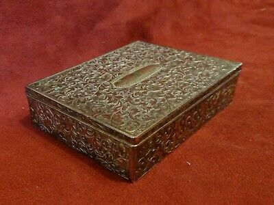 Vintage VINERS Chased Silver Plated Trinket Box