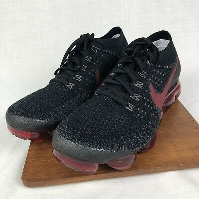 Nike Air VaporMax Flyknit Red Black 849558-013 Men's SIZE 10.5