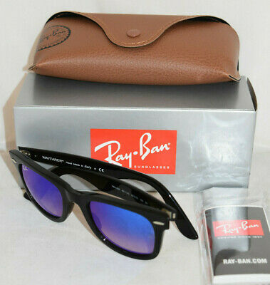 f254710855a5 NEW RAY BAN 4340 Wayfarer Sunglasses 646/1M Clear 100% AUTHENTIC ...
