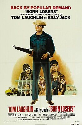 """BORN LOSERS Movie Silk Fabric Poster Exploitation Billy Jack Grindhouse 27""""x40"""""""