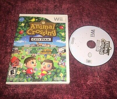 Animal Crossing: City Folk (Nintendo Wii Game) Case & Disc Tested