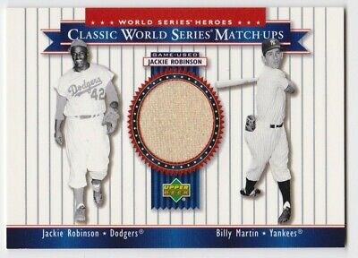 2002 Upper Deck World Series Heroes Jackie Robinson Game Used Jersey Pants Card