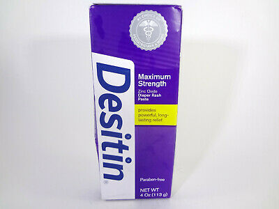 Desitin Maximum Strength Zinc Oxide Diaper Rash Paste 4oz *READ* {MB-D}